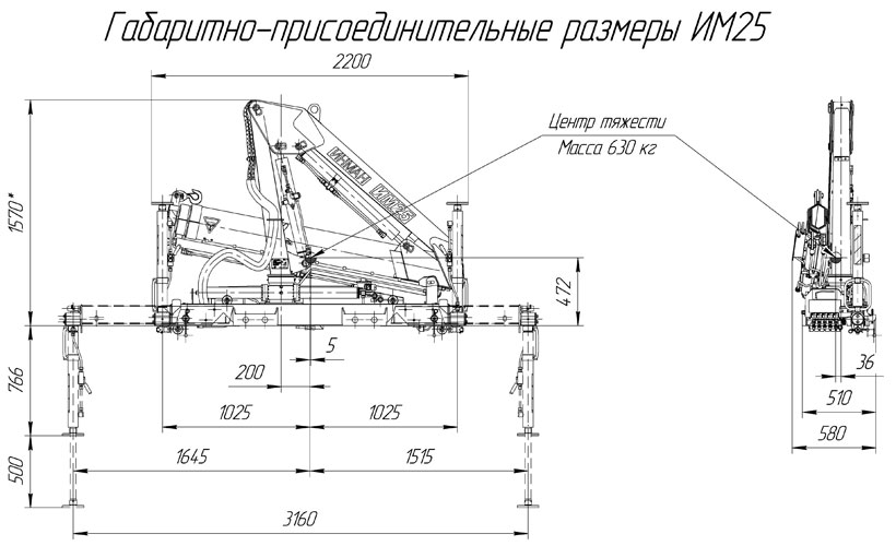 Кран манипулятор ИНМАН 25