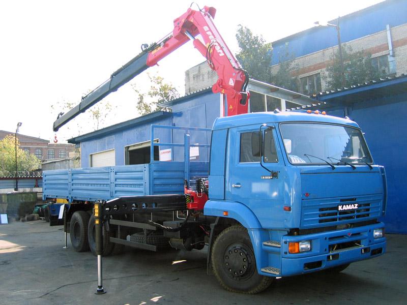 Кран манипулятор базе шасси КАМАЗ-65117