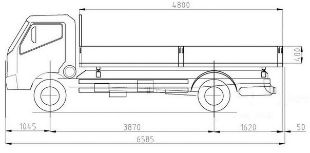 Самосвал Cantoni на базе шасси Toyota Hino 300